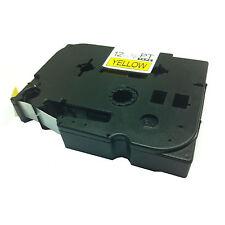 Hermano compatible Tz631 Para P-touch pt1010 pt1090 12mm Negro Sobre Amarillo Cinta