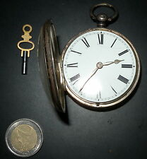 OROLOGIO DA TASCA ARGENTO '800 NON FUNZIONANTE CAL 46 - English Pocket Watch wit