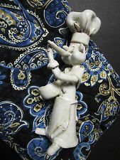 Vintage Chef Italy Bencini Art Pottery Figurine Sculpture signed ** AS IS **