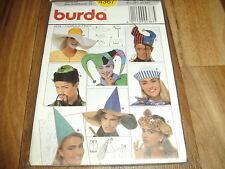 BURDA FASCHING-Schnittmuster 4367         8x   FASTNACHT-HÜTE/HATS        54-60