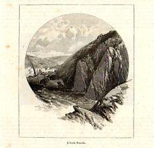 Stampa antica Isola TENEDOS Bozcaada o Bozdja-Ada Turchia Turkey 1892 Old Print