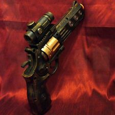 Steampunk cyber gothic gun revolver pistol Victorian laser Light pirate Toy