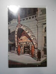 KON-TIKI Portland Oregon USA Post Card Cool entrance Exotica Tiki