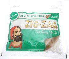 1,5,10X 250 ZIG ZAG MENTHOL SLIM FILTER TIPS RESEALABLE BAG SMOKING JOB LOT BULK
