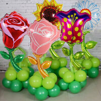 2PC Sunflower Flower Foil Ballon Rose Tulip Child Birthday Party Wedding Decor Y