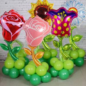 Sunflower Flower Foil Ballon Rose Tulip Kids Birthday Party Wedding Decor HOT E