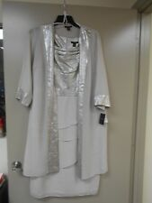 WOMENS DRESS EVENING, BRANDED LE BOS, 2 PIECE, TAUPE , SIZE 16 WIDE