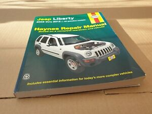 Haynes Repair Manual. For jeep cherokee 2002 thru To 2012. All Models.soft back.