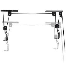 Lift Ceiling Mounted Hoist Storage Bike Bicycle Garage Hanger Pulley Rack Safety