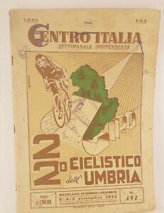 Centro Italia settimanale indipendente 22° giro ciclistico dell'Umbria 1954