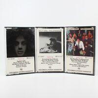 Lot of 3 Billy Joel Cassette Tapes The Stranger Turnstiles Piano Man Columbia