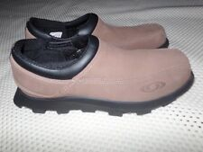 Mens Salomon CONTAGRIP Tan Suede Snow Hiking THINSULATE Slip-On SHOES Size 7.5