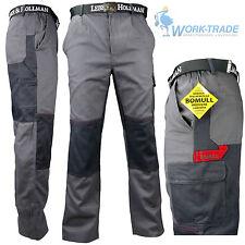 Arbeitshose Bundhose Grau 100% Baumwolle Schutzkleidung BOMULL Gr. 46-62 NEU TOP