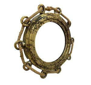 "16"" Antique Finish Wall Mirror Nautical Maritime Home & Office Decor Wall Mirror"