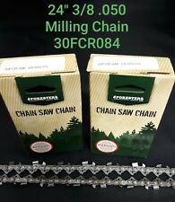 "2 PACK 24"" Forester Husqvarna 281 Milling 3/8 050 Chainsaw Chain Alaskan Mill"