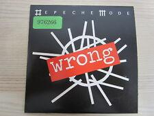 CD /   Depeche Mode – Wrong    / PROMO / MUSTER / RAR /