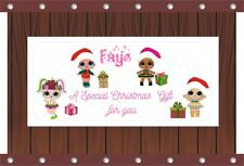 Personalised Christmas Money Gift Voucher Wallet Card & Envelope - LOL Doll