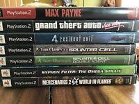 Lot of 7 PlayStation ( PS2 ) Used Games, See Pictures for Titles, Good Condition