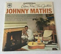 JOHNNY MATHIS ~ OPEN FIRE, TWO GUITARS ~ 1959 UK 12-TRACK STEREO VINYL LP RECORD