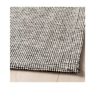 Ikea TIPHEDE Rug, Large Size Rug, flatwoven, grey/white, 155x220 cm,204.700.47