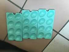 Tupperware Egg Tray Inserts ~ Set of 3 ~ light blue~ NEW