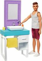 Barbie Ken Doll - Shaving & Bathroom Playset Design May Vary