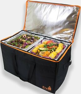 85 Heavy Duty Commercial Food Delivery Bag XL W Divider Double Insulation ETZ YY