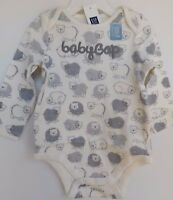 NWT Gap Baby Boy 1Pc LS Bodysuit Bears 0-3M 3-6M NEW Free Shipping