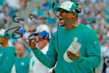 More details for brian flores signed 6x4 photo miami dolphins nfl american football autograph coa