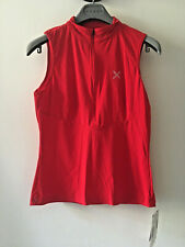 Montura donna red sleeveless technical zippered top S NWT nuovo
