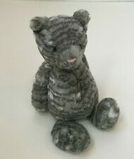 Jellycat London Bashful Gray Tabby Cat Plush Stripes 12 Inches Stuffed Animal