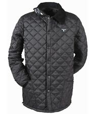 Barbour QUILTED Preppy liddlesdale Cuello Chaqueta azul marino tweed