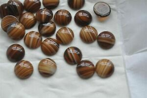 Topaz Givre Preciosa 18mm Lamp Work Flat Back Glass Round Cabs, 24 pieces R219