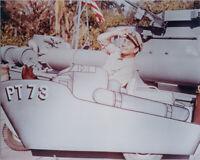 Ernest Borgnine 8x10 publicity pose photo on PT73 craft McHale's Navy TV series