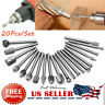 20x Drill Bits Tool For Dremel Set Steel Rotary Burrs High Speed Wood Carving US