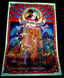 Plakat Circus Circo Zirkus Cirque Fliegenpilz 92 Circus unter Wasser Affiche