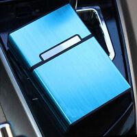 Blue Pocket Aluminum Metal Cigarette Storage Cigar Case Tobacco Box Holders 1pc
