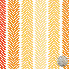 Camelot Fabrics Spectrum Chevron Stripes Chamomile Orange Ombre Cotton Fabric