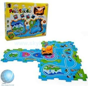 Kids DIY Track Car Jigsaw puzzles For Toddler Boys Girls Preschool Learning Game