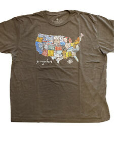 Territory Ahead Men's Short Sleeve T-Shirt New SS Anywhere Printed Size Small