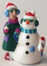 Hallmark Maxine Christmas Ornament Self Portrait Snowman 2000