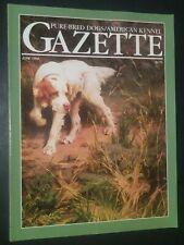 Purebred Dogs Akc Gazette English Setter Cover by Percival Rosseau June 1994