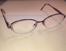 Sans Pareil Linda Evans Brown Eyeglasses Frames Semi Rimless 53[] 18 135