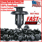 100pcs 10mm Bumper Clips Rivet Retainer Fastener Car Fender Push Type Auto Body