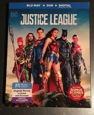 Justice League (Blu-ray, DVD, Digital HD, 2018) Factory Sealed with Slipcover!!!