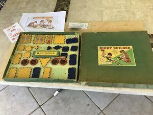 Meccano Dinky Builder Set No 2 ,post WW2.90% complete, poor box.