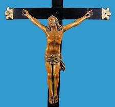 Kruzifix - Korpus Christi feinste Bein-Bone-Schnitzerei Frankreich vor 1700