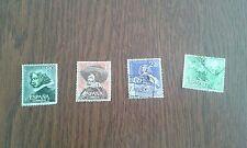 serie completa sellos usados, 3 cent muerte de Velazquez, edif. 1340-43 año 1961