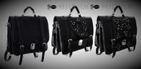 Restyle Black Messenger Satchel Handbag School Bag for Gothic Punk Emo Men Women
