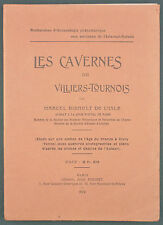 BIDAULT ISLE - CAVERNES DE VILLIERS TOURNOIS - 1909 - ARCHEOLOGIE CIVRY YONNE